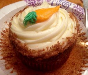 Carrot Cake Cupcake courtesy of Moreno's Bakery