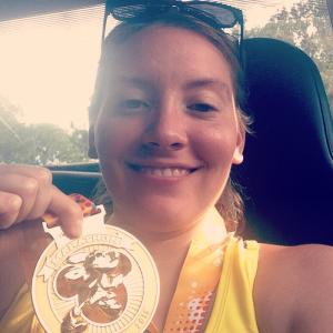Me after finishing the WDW Marathon 2015