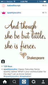 """And though she be but little, she is fierce."" -Shakespeare. <3 it!"