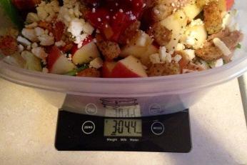 3.04 pounds...that's a big salad!
