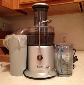 """I'm so happy to be out of the box"" -Breville the Juicer"