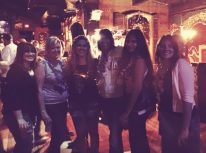 Not a great pic, but I do love these girls. From left: Meghan, Jane, Misty, Marie, Vicky, and me.