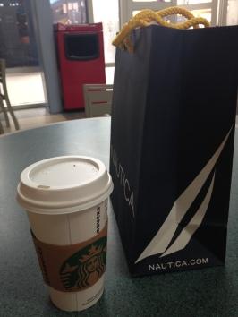 Starbucks, Nautica, trashcan...?