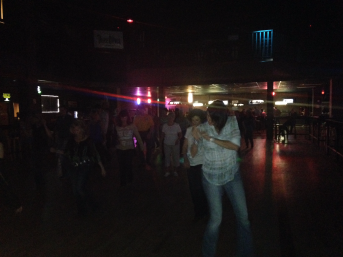 Just a little line dancing. (and no, I am not in the pic- I'm taking it)