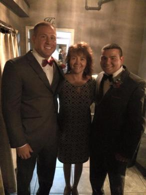 """From left: Bubba, mom, and my """"brother"""" Kris."""