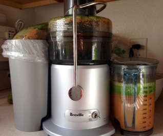 Sweet & Tart Potato Juice and a messy juicer to clean
