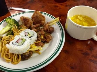 Chinese buffet plate 1