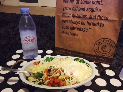 Chipotle and Grey's Anatomy! What more could I want?!