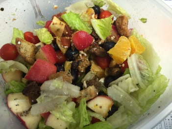 Lunch salad for dinner!