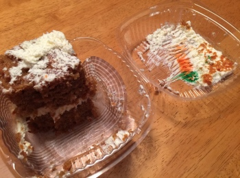 "They should change carrot cake's name to ""dangerous"""