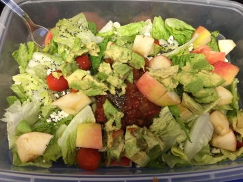 Yummy salad for lunch, ad only missing a few things...