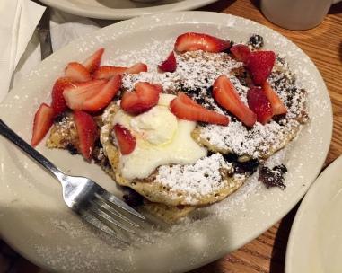 Multiberry pancake breakfast