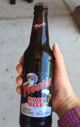 Root beer in a bottle! Yes!