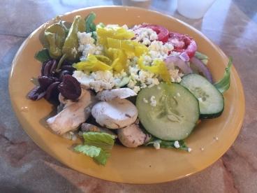 Small greek salad at Mellow Mushroom
