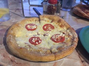 Gourmet white pizza