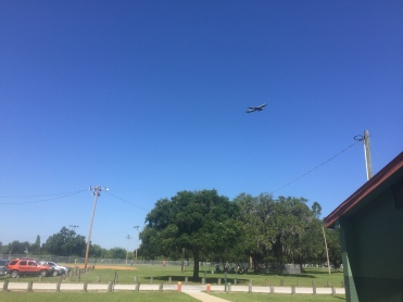 Gadsden Park is right next to Macdill Air Force Base so planes are often seen up close.