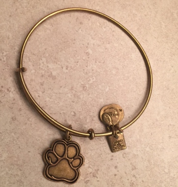 I love my paw print Alex & Ani!